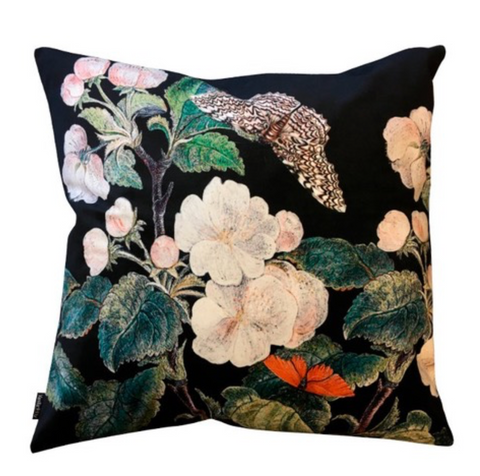 Cushion Appleblossom Black 50x50