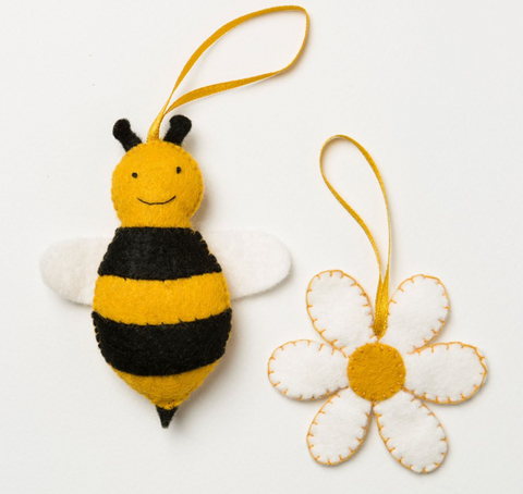 Bee and Flower Felt Craft Mini Kit
