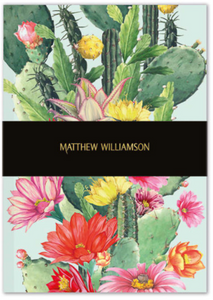 Cactus Flowers Deluxe Notebook