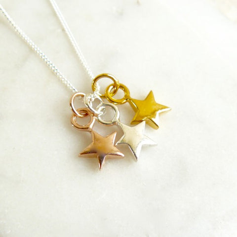 Tricolour Star Necklace