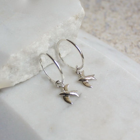 Hoop Earrings Swallow