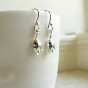 Hook Earrings Silver Mouse