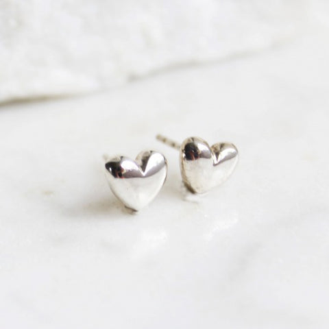 Stud Earrings Heart/Silver