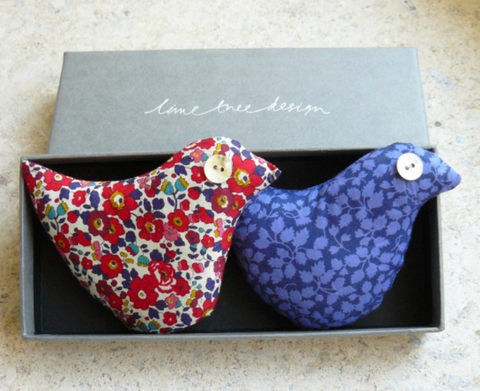 Box of 2 Lavender Birds - Festive Bird