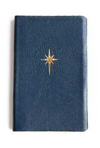 Leather Pocket Notebook Navy Star