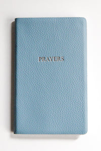 Leather Pocket Notebook Pale Blue Prayers