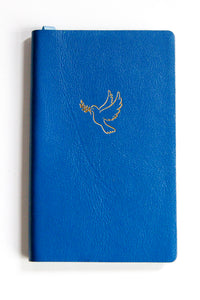 Leather Pocket Notebook Royal Blue Dove