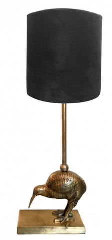 Table Lamp Kiwi Bird  complete with Black velvet shade