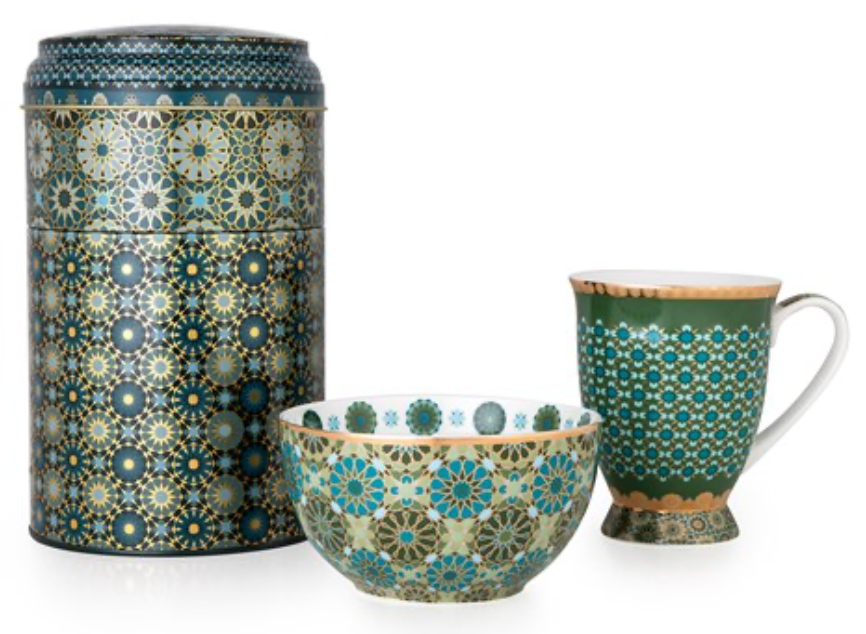 Tin Box & Mug/Bowl Andalusia