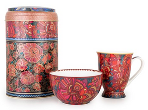 Tin Box & Mug/Bowl Kashmir