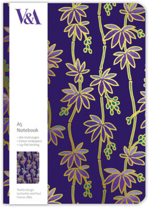Purple Flowers A5 Notebook