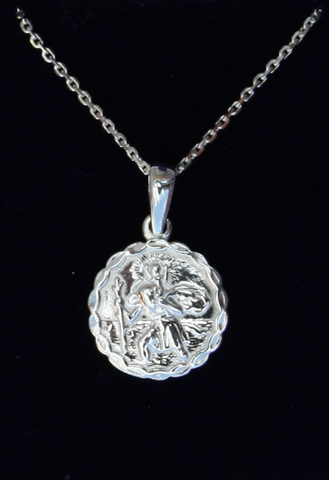 Silver St Christopher (small) SH 53017
