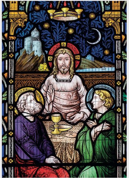 St Laurence Postcard Pack of 6 Stained Glass Window Images (Free UK Delivery)
