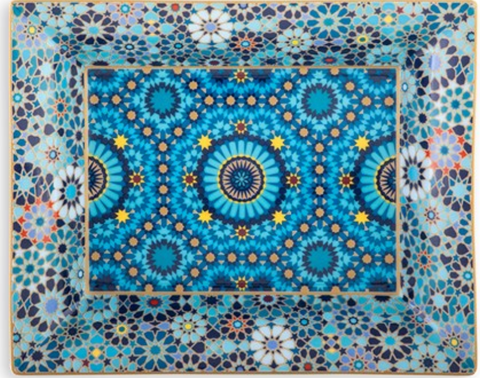 Porcelain Change Tray Moucharabieh Blue