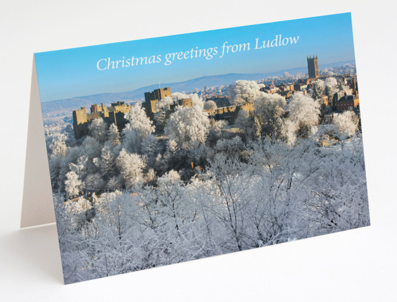 Christmas from Ludlow  from Whitcliffe