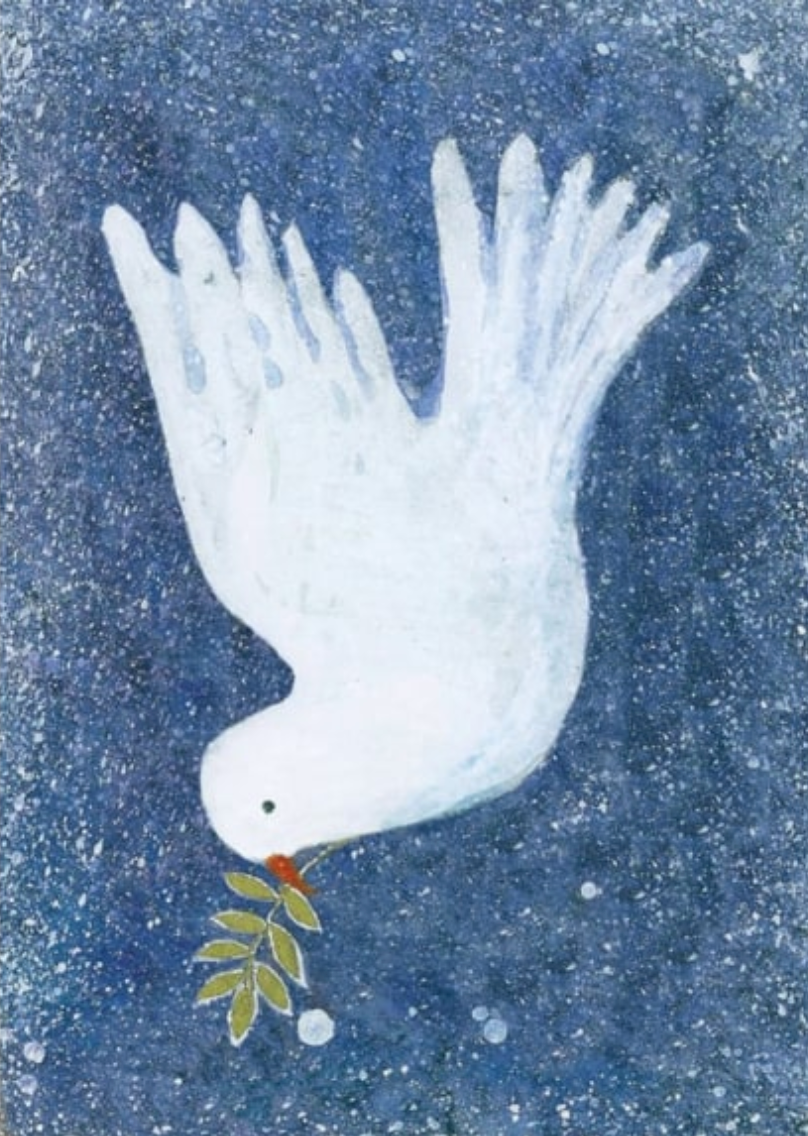 Dove with Mistletoe