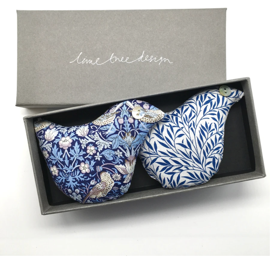 Box of 2 Lavender Birds - Fine Feather