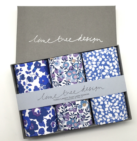 3 Liberty Hankies in a Gift Box - Blue Note