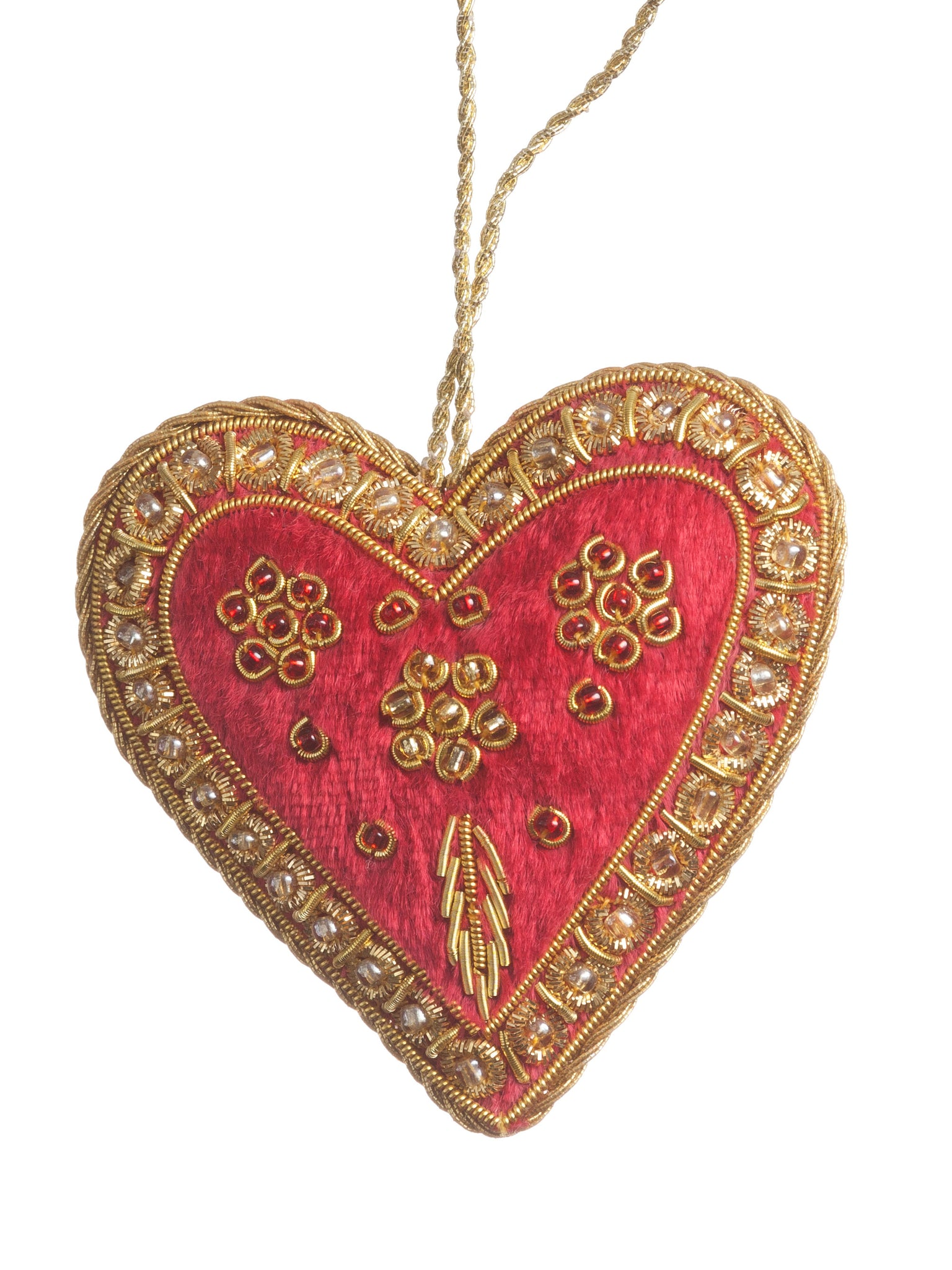 Red Embroidered Heart