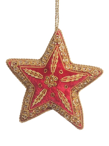 Red Embroidered Star