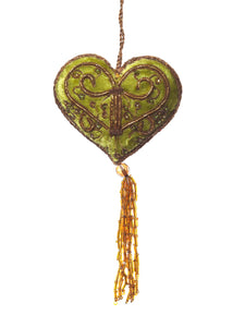 Sage Green Embroidered Heart