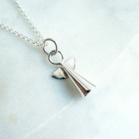 "Silver Angel 18"" Necklace"