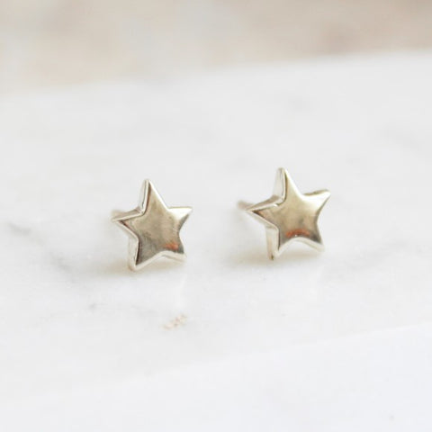 Stud Earrings Star/Silver