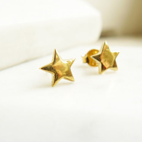 Stud Earrings Star/Gold