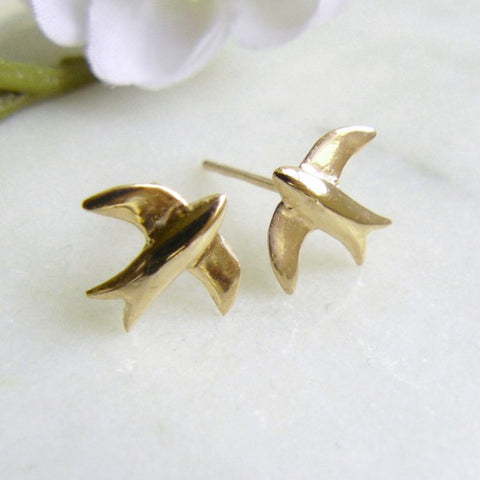 Stud Earrings Swallow/Gold