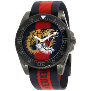 Gucci Dive Tiger Embroidered Dial Mens Watch YA136215