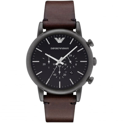 Emporio Armani Dress Chronograph Black Dial Watch AR1919