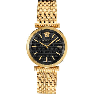 Versace V-Twist Quartz Black Dial Ladies Watch VELS00819