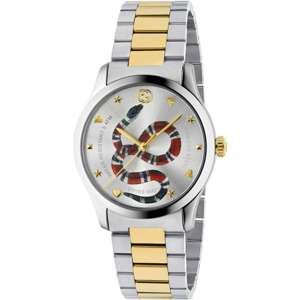Gucci G-Timeless Silver with Snake Motiif Dial Watch YA1264075