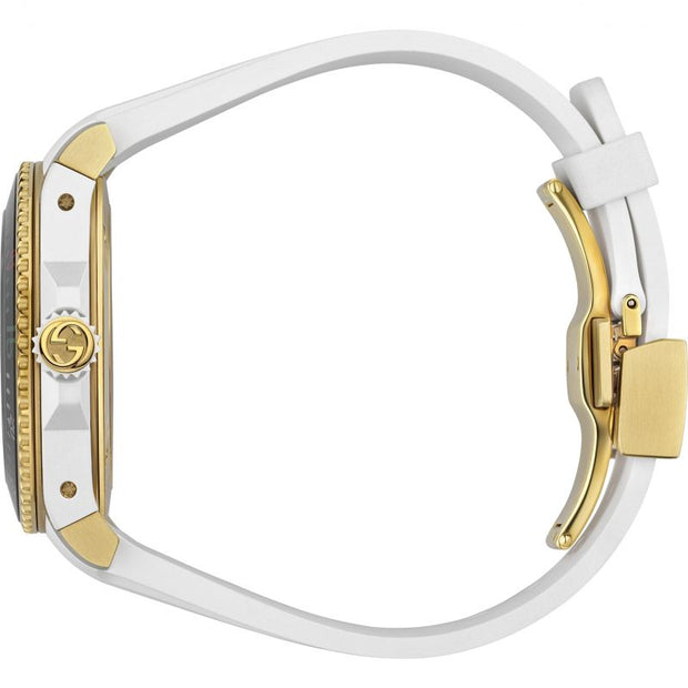 Gucci Dive Quartz White Dial Watch YA136322