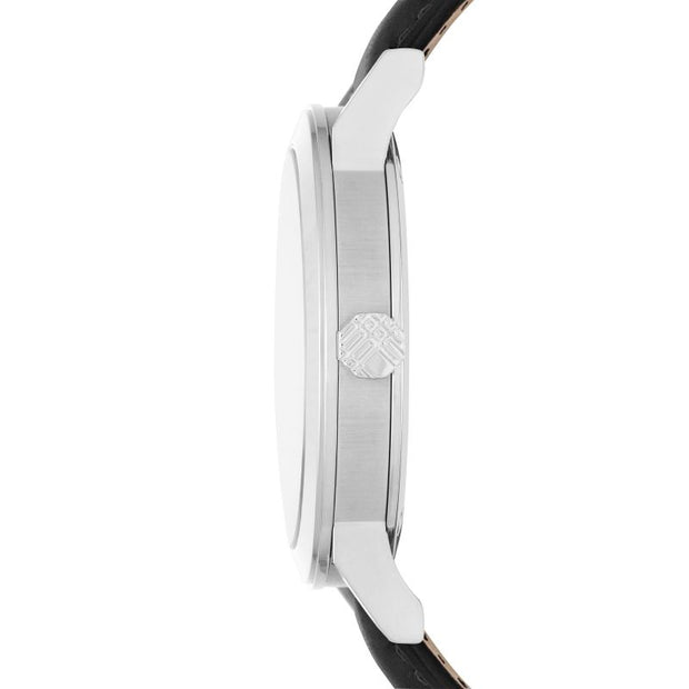 Burberry The City Silver Dial Black Leather BU9008