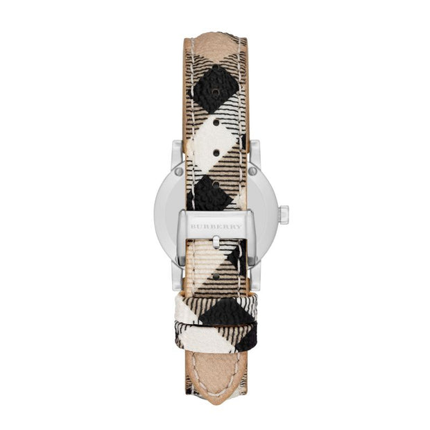 Brand: Burberry Series: The City Model: BU9222 Gender: Ladies Movement: Quartz Water Resistance: 50 meters / 165 feet Features: Diamond, Gold, Leather, Stainless Steel