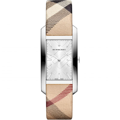 Burberry The Pioneer Silver Check-stamped BU9406