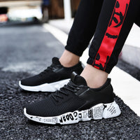 Mesh Breathable Casual Shoes Male Laces Sneakers Unisex Couple Running Shoes Solid Color Ccushioning