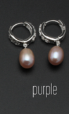 Real freshwater pearl earrings for women, 925 sterling silver pearl earrings fine white pearl earrings jewelry