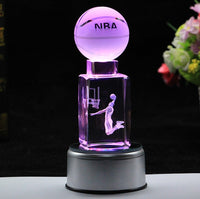 Crystal basketball music box
