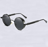 UV protection round frame metal sunglasses