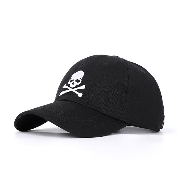 2020 New Fashion Skull Embroidery Baseball Cap Danger Sign hip hop hat Spring Man Woman Cotton Sports Black Bone ASTROWOR Unisex