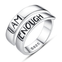 S925 sterling silver Alphabet ring