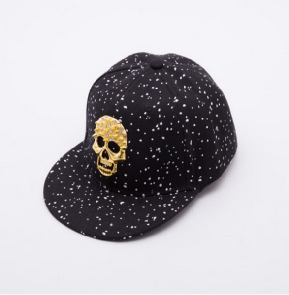 Hip hop safety hard hat custom skull caps glitter ponytail caps wholesale
