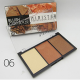 3 Colors Matte Blusher Shimmer Makeup Professional Bronzer Face Contour Cheek Mineral Highlighter Powder Cosmetic Blush Palette