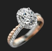 Hearts and Arrows Zircon Engagement Rings Europe and America Personality Colors Rings Ornaments
