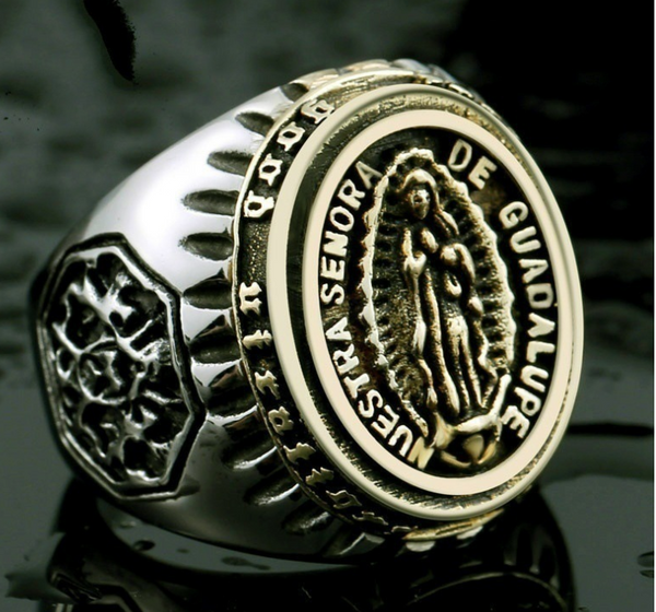 Gold Blessed Virgin Mary Ring