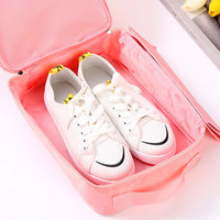 Twill Oxford Cloth Shoes Travel Storage Bags Three-layer Waterproof Shoe Bag
