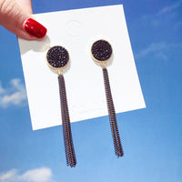 Exaggerated earrings web celebrity stud