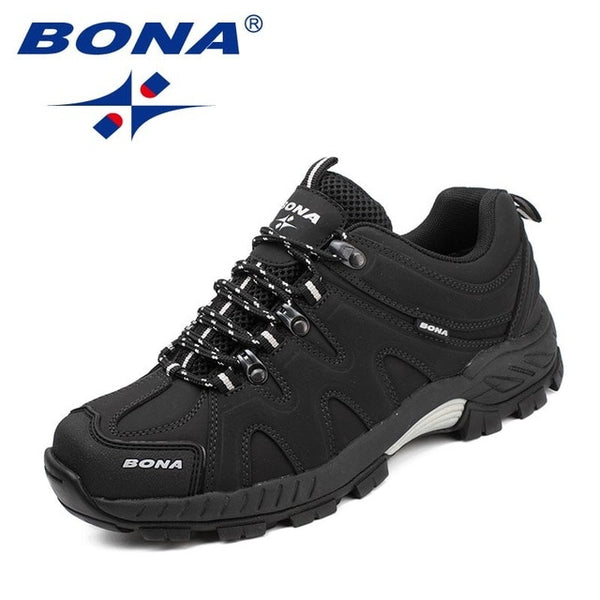 BONA Classics Style Men Hiking Shoes Lace Up Men Sport Shoes Outdoor Jogging Trekking Sneakers